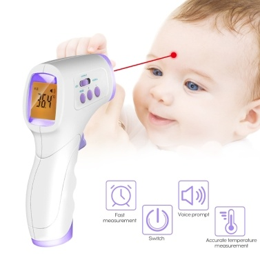 Ohr-Stirn-Thermometer Mini Digital Infrarot Baby-Temperaturmessgerät für Kinder, Kinder und Erwachsene