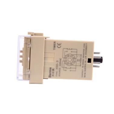 AC220V Digitaler Zeitverzögerungsrelais-Zeitsteuerungsschalter 999 Sekunden 8-polig