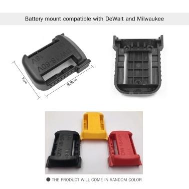 Lithium-Ionen-Batterien Aufbewahrungshalterung für Batteriehalter und Elektro-Werkzeugbasishalter - Ein Set, kompatibel mit DeWalt 20V- und Milwaukee 18V-Batterie und Werkzeug