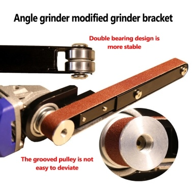 Angle Grinder Modified Sand Belt Machine Woodworking Sand Belt Machine Mini Machine Multipurpose Utility Modification Tool Suitable for Model 100 Angle Grinder