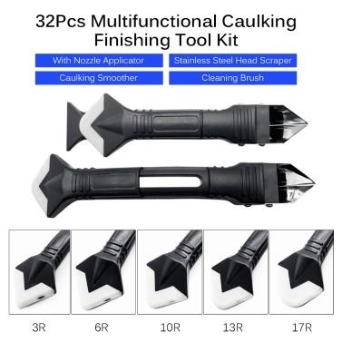 32Pcs Caulking Finishing Tool Kit Multifunctional Caulking Finisher Tools Kit