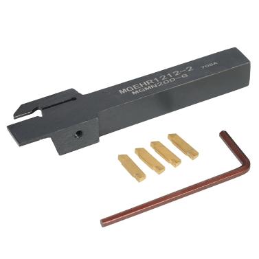 4 teile / schachtel MGMN200 Carbide Einsätze + 12 * 100mm MGEHR1212-2 Halter + Schlüssel Drehmaschine Nuten Drehen Werkzeug für Cnc-maschine
