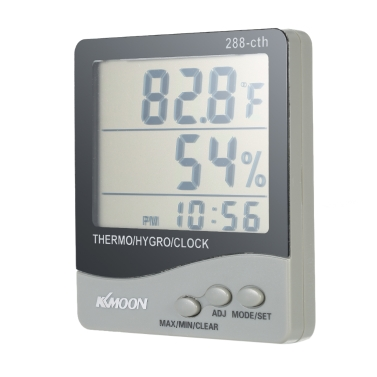 KKmoon LCD u2103 / u2109 Digital Thermometer Hygrometer Temperature Humidity Meter Alarm Clock