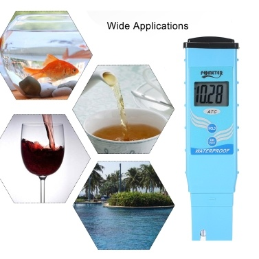 Portable Digital LCD pH Meter with Automatic Temparature Compensation Waterproof High Accuracy pH Tester Water Quality Tester Detector