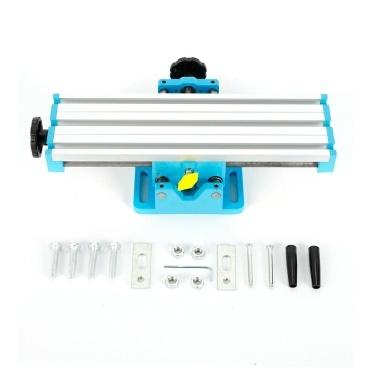 DR2015A Mini Fräsmaschine Tischbefestigung Bohrschlitten Arbeitstisch Kreuzschlitten Tischbohrstock Schraubstock für Tischbohrständer