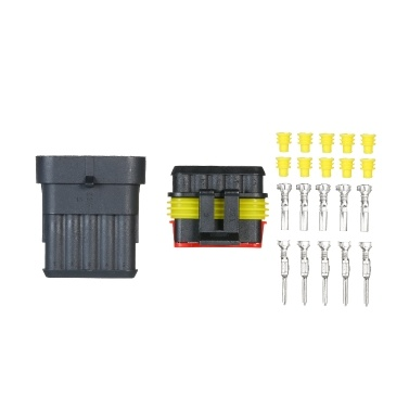 5pcs 6-Pin Way Waterproof Electrical Connector Plug with Male And Female Terminals 5 Kit Car Electrical Wire Connector Plug for Car Truck