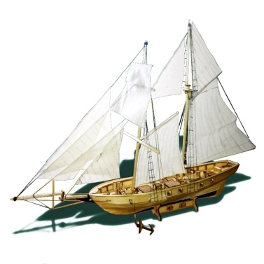 DIY Ship Assembly Model Kits Wooden Sailing Boat Scale Model Decoration for Kids Adults