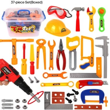 Kids Play Tool Set Toddlers Pretend Play Tool Kit Accessories Educational Toys Children Gift
