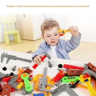 Kinder spielen Tool Set Kleinkinder so tun, als spielen Tool Kit Zubehör Lernspielzeug für Kinder Geschenk