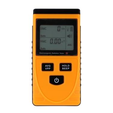 Medidor de Detector de Radiação Eletromagnética Digital LCD