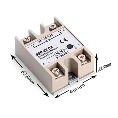 REX-C100FK02-V * DN Intelligenter Temperaturregler SSR-Ausgang + SSR-25 DA + M6 1M-Kabel 3-teiliges Set