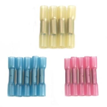 200PCS / Box Schrumpfschlauch Wasserdichte Drahtverbinder Schrumpfschlauch Wärmeschrumpfbare Schläuche Stoßanschluss mit Aufbewahrungskoffer für Heimwerker (3: 1 Schrumpfverhältnis)