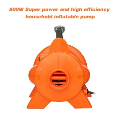 800W Electric Air Pump with 4 Nozzles Fast Filling Air Pump for Air Mattress Swimming Rings Airbeds Rafts Inflatable Sofas EU Plug