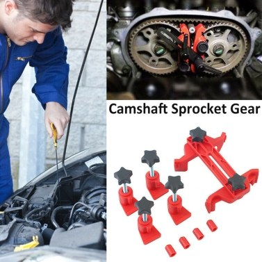 5 Dual Cam Clamp Camshaft Engine Timing Locking Tool Universal Type Sprocket Gear Kit