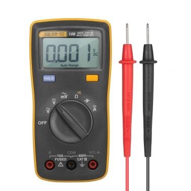 FLUKE 6000 Counts Mini Palm-sized Multimeter Digital Multimeter Handheld Voltmeter Portable Ammeter Voltage Meter Universal Meter Measuring AC/DC Voltage AC/DC Current Resistance Capacitance Continuity