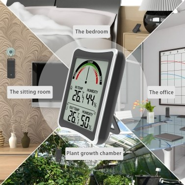 Indoor Outdoor Thermometers Wireless Thermometers Hygrometer Electronic Remote Dual Channel Thermometers