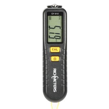 RICHMETERS GY910 Handheld Digital Coating Thickness Gauge Tester Fe/NFe Coatings LCD Display