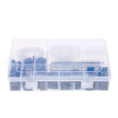 1450 STÜCKE 2,54mm PCB Jumper Draht Pin Header Stecker Weiblich Männlich 40Pin Box Verpackung Kit Elektronische Komponenten Set für Arduino Dupont