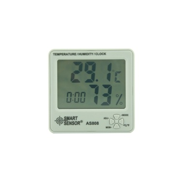 Smart Sensor AS808 Digital Hygrometer Thermometer Humidity Temperature Meter Tester Weather Station with Calendar & Clock Alarm