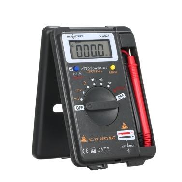 RICHMETERS Handheld Mini Digital Multimeter Multifunktions 4000 Zählt Multi Meter AC / DC Transistor Spannungsprüfer Amperemeter Temperatursensor Prüfsonde VC921