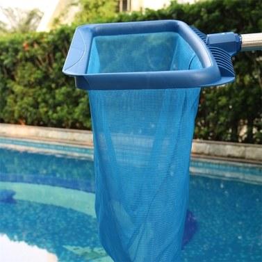Leaf Skimmer Net Deep Plastic Leaf Rake mit Bag Fine Mesh Net Catcher Reinigungswerkzeug für Pool Whirlpool Teichbrunnen