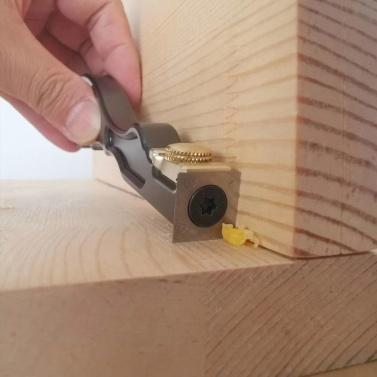 HONGDUI Aluminiumlegierung Kleines Glas Schaberkleber Klingenschaber Einweg-Schaufelkleber Werkzeug Holzbearbeitungsentgratungswerkzeuge mit rechtwinkliger Klinge und Lichtbogenklinge