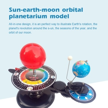 DIY Solar System Model Globe Earth S-un Moon Orbital Planetarium Educational Teaching Tool