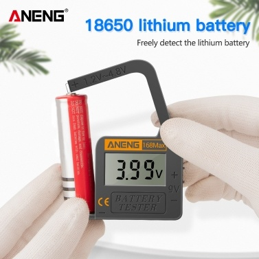 ANENG Battery Tester 168MAX Digital Display Tester Battery Voltage Checker Battery Capacity Testing Tool Universal Tester for Checking AAA AA Button Battery