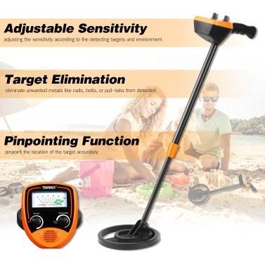 TIANXUN Children Metal Detector Height Adjustable 6.8-inch Search Coil Mini Lightweight Outdoor Metal Finder for Kids Students Interesting DIY Yard Beach Toy