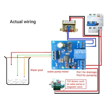 DC 12V Water Liquid Level Controller Sensor Module Water Level Relay Detection Sensor Pumping Drainage Switch Controlling Circuit Board