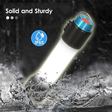 Portable Outdoor LED Camping Lantern Handheld Flashlight IP65 Waterproof Emergency Light