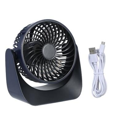 KKmoon Ultra Quiet Cordless Mini Desk Fan USB Fan Touch Control Rechargeable Li-ion Battery Fan Battery Operated Table Fan with 360° Rotatable Head & 3 Fan Speeds Adjustable