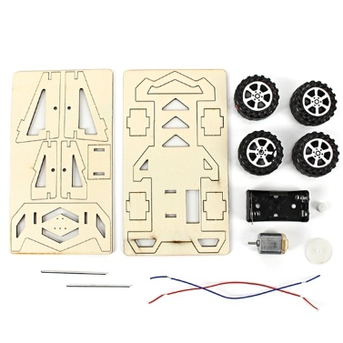 Wood Racing Car DIY Kit Kids Toy DIY Kit Electric Wooden Racing Car for Children Science and Technology Inventions Assembled Experiment DIY Model Building Kits