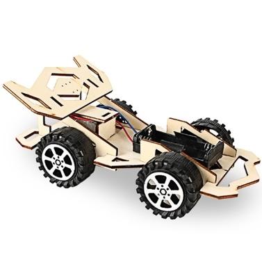 Auto da corsa in legno Kit fai da te Giocattolo per bambini Kit fai da te Auto da corsa elettrica in legno
