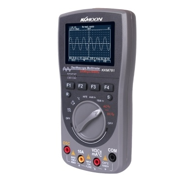 KKmoon Intelligenter digitaler Speicher Scopemeter 2-in-1-Digital 40MHz 200Msps / S Auto-Oszilloskop mit einem Schlüssel OSC 6000 Zählt echtes RMS-Multimeter DMM AC / DC-Spannung Stromwiderstand Kapazitätsfrequenzmesser
