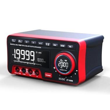 BSIDE 19999 Counts Multifunktions-Multimeter Digitales True RMS-Multimeter DC / AC-Spannungs- und Strommessgerät mit LCD-Anzeige Messen der AC / DC-Spannung Frequenzwiderstand Kapazitätsmessung Durchgangsdauer mit Wecker BT Audio-Anzeige der Umgebungstemperaturfunktion Diodentester