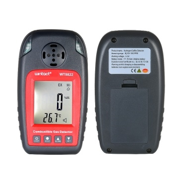 wintact WT8822 Hydrogen Sulfide Detector LCD Display H2S Gas Tester Hydrogen Sulfide Concentration Detecting Gauge Meter