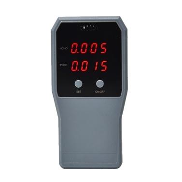 Monitoraggio della qualità dell'aria Rilevatore di formaldeide Misuratore di inquinamento Tester per interni HCHO TVOC Tester per aria in tempo reale con schermo LCD