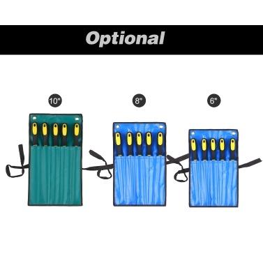 5-teiliges Dateiset Enthält 1 PCS-Datei mit quadratischen / runden / halbrunden / flachen / dreieckigen Dateien mit 6 Dateien