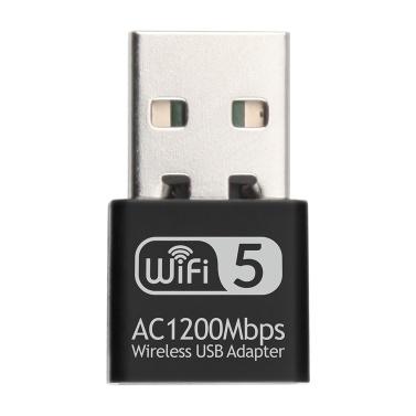 2.4G 5G AC1200Mbps Беспроводная сетевая карта USB-адаптер Двухдиапазонный WIFI-приемник RTL8812