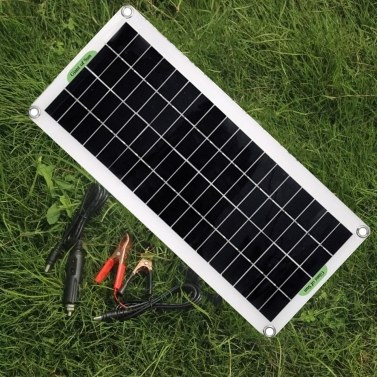 30W Polycrystal Solar Panel Flexible Solar Panel For Camping Car Traveling Outdoor Emergency Power Accessory