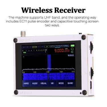 50KHz-200MHz 3.5 Inch Touchable IPS Display Screen Zoom Display AM SSB NFM WFM Ana-log Modulation RF DSP SDR HAM Wireless Receiver Backlight Control Function Support UHF Band Wireless Receivers(Built In Battery)
