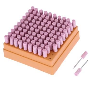Elektrische Schleifen Zubehör 100 stücke Schleifstein Punkte Polieren Schleifkopf Rad Tool Kit Für Dremel Präzisionswerkzeuge 8 * 15mm / 6 * 13mm