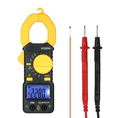 Digital Clamp Meter 4000 Counts Auto-ranging AC/DC Voltage AC Current Portable Handheld Multimeter w/ Backlight LCD Diaplay Measuring Capacitance Resistance Frequency Continuity Diode Temperature Hz Tester
