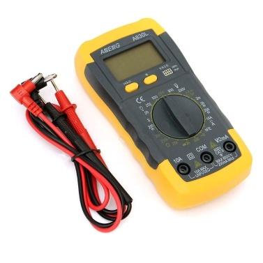 Digital LCD Voltímetro Amperímetro Ohmmeter Multímetro Volt AC DC Tester Meter
