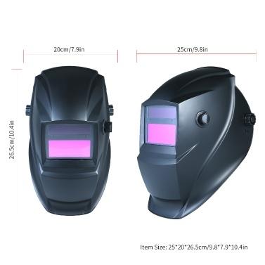 Solar Automatic Darkening Schweißhelm Maske Kopfmontierte Argon Arc Welding Schutzkappe Flat Flip Half Helical