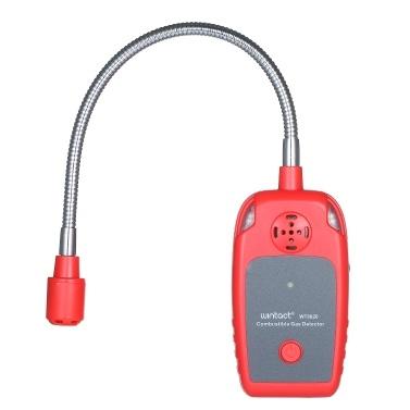 wintact WT8820 Detector de gas combustible portátil Detector de fugas Sensor de gas natural Instrumento de prueba de fugas de gas Sensor de cuello de cisne de 12 pulgadas