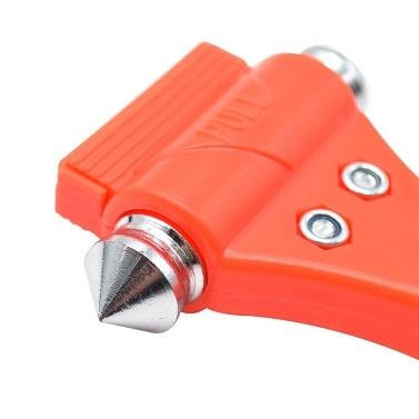 Lifehammer 2 in 1 Sicherheitshammer und Sicherheitsgurtschneider Blade Emergency Escape and Rescue Tool Fensterbrecher mit schwarzem Halter für PKW / Bus / LKW