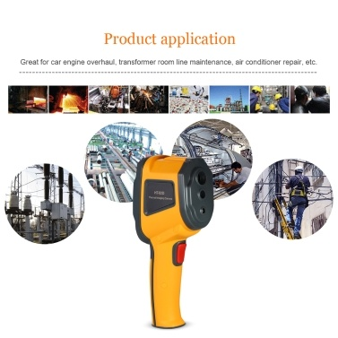 Handheld Infrared Thermal Imager Thermometer -20°C to 300°C & IR Resolution 1024 Pixels 2.4-inch TFT Color Display Imaging Camera