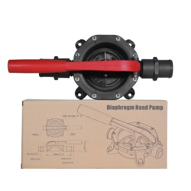 720 GPH Plastic Hand Diaphragm Pump Manual Bilge Pump Diesel Waste Water Transfer Pump with 1.25-Inch Hose Connection and 1.5-Inch Adapters for Yacht RV Kayak